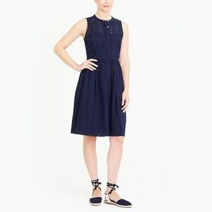 Eyelet Sleeveless Shirtdress J. Crew Plus Size 14